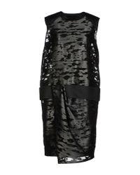 Alexander Wang - Gray Short Dress - Lyst