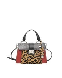Miu Miu - Red Amiulet Patchwork Top Handle Bag - Lyst