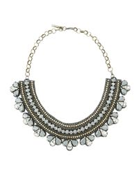 Deepa Gurnani | Metallic Queen Elizabeth Two-tone Collar Necklace | Lyst