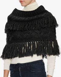 Exclusive For Intermix - Black Fringe Snood - Lyst