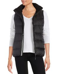 Calvin Klein | Black Fleece Collar Puffer Vest | Lyst