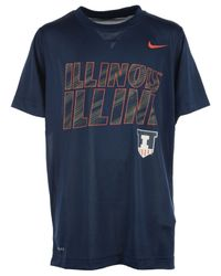 Nike - Blue Boys' Illinois Fighting Illini Slant T-shirt - Lyst