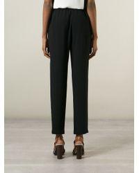 Proenza Schouler | Black Pleated Trousers | Lyst
