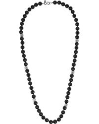 Kenneth Jay Lane - Black Rhodium-plated Cubic Zirconia Necklace - Lyst