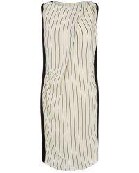 Nicole Farhi | White Ticking Stripe Dress | Lyst
