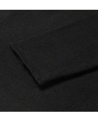 The Elder Statesman - Black Cashmere Henley Sweater for Men - Lyst