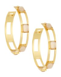 Stephanie Kantis | Metallic Rectangular Cutout Hoop Earrings | Lyst