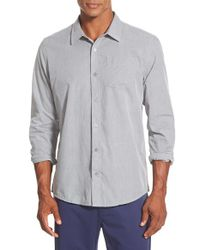 Travis Mathew | Gray 'lyle' Trim Fit Sport Shirt for Men | Lyst