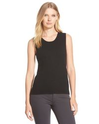 Pure Amici | Black Cashmere Jersey Tank | Lyst