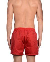 BOSS Black - Red Swimming Trunk for Men - Lyst