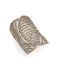 Bavna | Metallic 2.55 Tcw Champagne Diamond & Sterling Silver Ring | Lyst