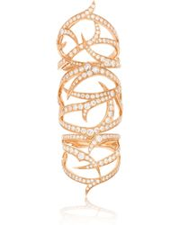 Stephen Webster | Pink Thorn Classic 18-Karat Rose Gold Diamond Ring | Lyst