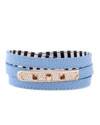 Henri Bendel | Blue Debutante Triple Wrap Bracelet | Lyst
