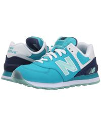 New Balance Blue 574 - Glacial