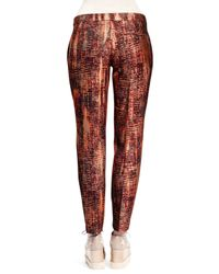 Stella McCartney - Orange Slim Tie-dye Jacquard Pants - Lyst