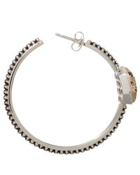 Stephen Dweck | Metallic Small Gold And Silver Galactical Hoop Earrings | Lyst