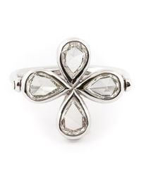 Marie-hélène De Taillac | Metallic Diamond Four-leaf Clover Ring | Lyst