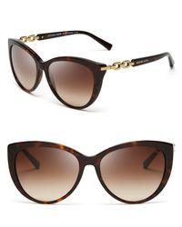 Michael Kors - Brown Gstaad Chainlink Cat Eye Sunglasses - Lyst