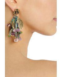 Etro - Purple Va Goldplated Tourmaline and Silk Clip Earrings - Lyst