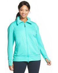 Zella - Green ' Zen Again' Front Zip Jacket - Lyst