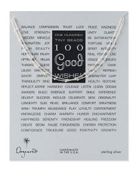 Dogeared | Metallic 100 Good Wishes Silver Necklace | Lyst