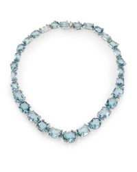 Alexis Bittar Fine | Blue Midnight Marquis Multicolor Quartz, Grey Diamond & Sterling Silver Necklace | Lyst
