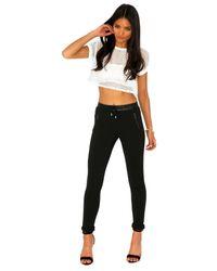 Missguided - Renee Zip Leather Sweatpants In Black - Lyst