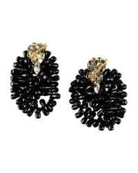 DSquared² | Black Ribbon Draped Earrings | Lyst