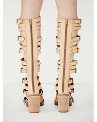 Free People - Natural Vegan Shell Game Gladiator Sandals - Lyst