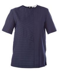 Alexander Wang - Blue Boxy Pinstripe Tshirt - Lyst