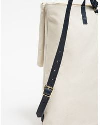 Clare V. | Natural Agnes Canvas Backpack | Lyst