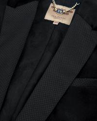 Ted Baker - Black Tuxedo Style Velvet Jacket - Lyst