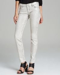 c843a8d12495 Koral Jeans Skinny Coated in Natural Python in Natural - Lyst