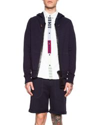 Band of Outsiders - Blue Men'S Giant Zip Cotton Hoodie - Lyst