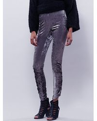 Free People | Metallic Womens Braidpleats Stack Legging | Lyst