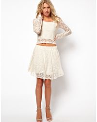 Love | Natural Crop Top in Lace | Lyst
