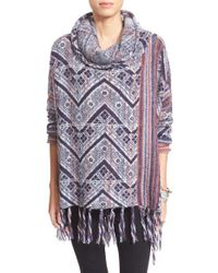 Free People | Blue Womens Be The One Poncho | Lyst