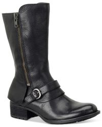 Born | Black Aubra Mid-shaft Boots | Lyst