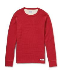 Neighborhood | Red Longsleeved Waffle Cottonjersey Tshirt for Men | Lyst