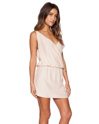 Amanda Uprichard | Natural Double Crossover Dress | Lyst