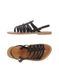 K. Jacques - Black Sandals - Lyst