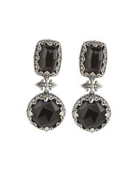 Konstantino | Black Silver Multi-shape Onyx Drop Earrings | Lyst
