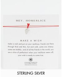 Dogeared - Red Sterling Silver Homeslice Wish Necklace - Lyst