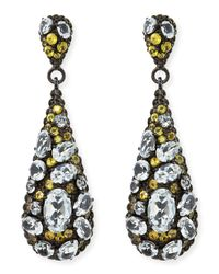 M.c.l  Matthew Campbell Laurenza | Metallic Yellow Sapphire & White Topaz Teardrop Earrings | Lyst