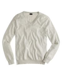 J.Crew | Gray Cotton-cashmere V-neck Sweater for Men | Lyst