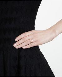 Rosa De La Cruz - Metallic Smile 18k Gold And Diamond Ring - Lyst
