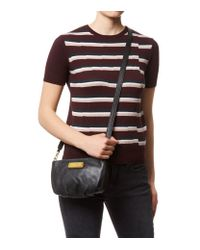 Marc By Marc Jacobs Black Flap Percy Cross Body Bag