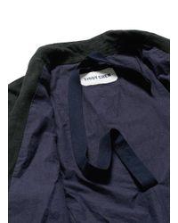 Ziggy Chen - Gray Double Layer Front Linen-wool Long Blazer for Men - Lyst