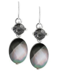 Kenneth Cole | Metallic Silver-tone Shell Drop Earrings | Lyst
