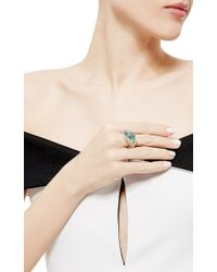Nicholas Varney - Multicolor One Of A Kind Aquamarine And Diamond Conch Pearl Ring - Lyst